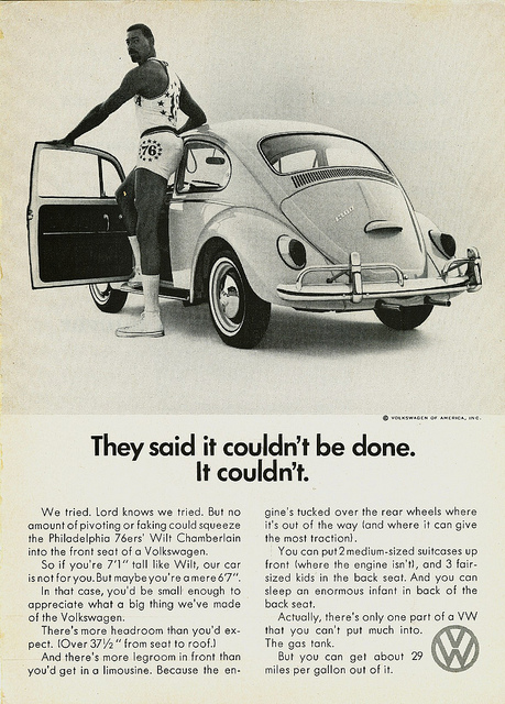 Wilt Chamberlain VW ad