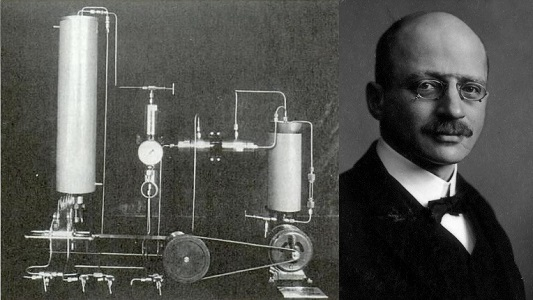 Haber and apparatus. I do not trust pince-nez glasses.