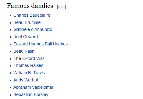 a list of verified dandies