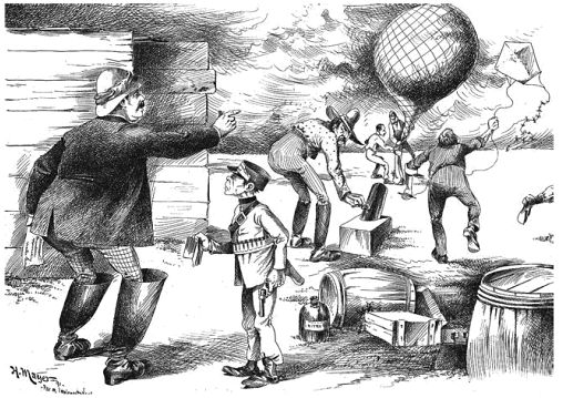 Farm Implement News cartoon, lampooning Dryenforth (from Fleming, 2011)
