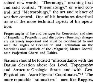 Weather control lingo