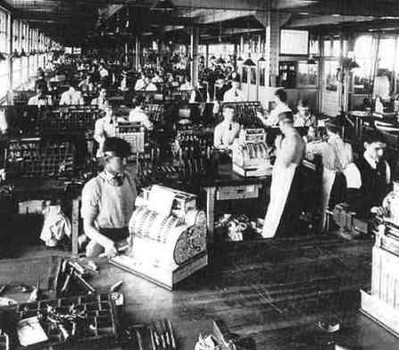 NCR assembly line