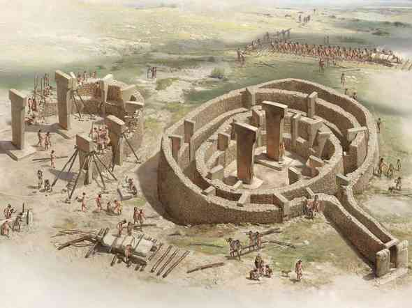 File photo: Gobekli Tepe under construction