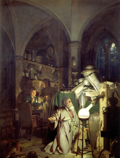 The Alchemist Discovering Phosphorus, by Joseph Wright